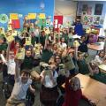 Skype author visit to Faithful Shepherd Catholic Schoool, Minnesota